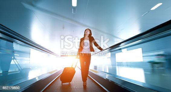 istock businesswoman at airport 652179850