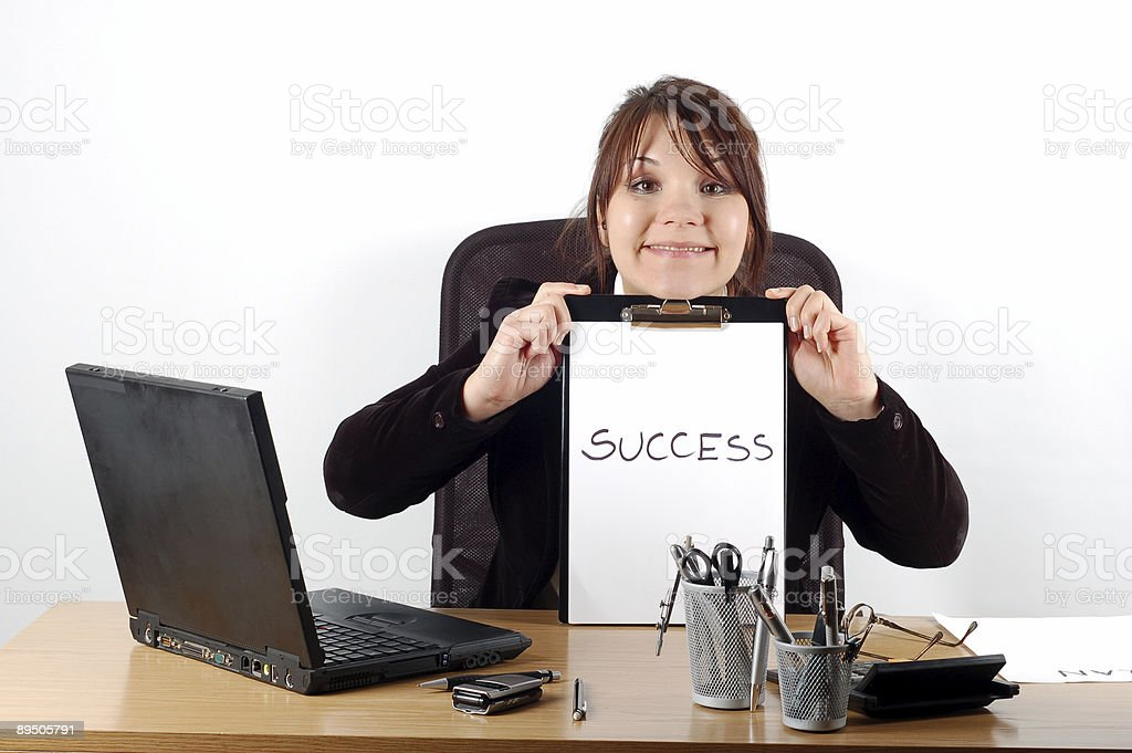 businesswoman at desk #7 royalty-free stock photo
