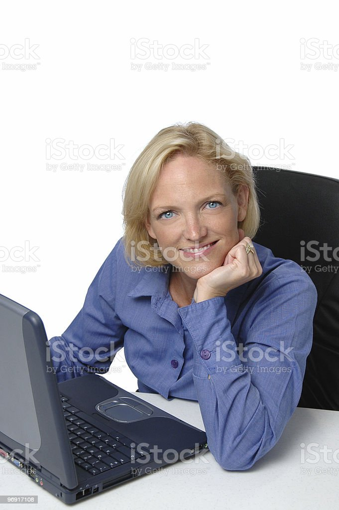 Businesswoman at her desk royalty-free stock photo