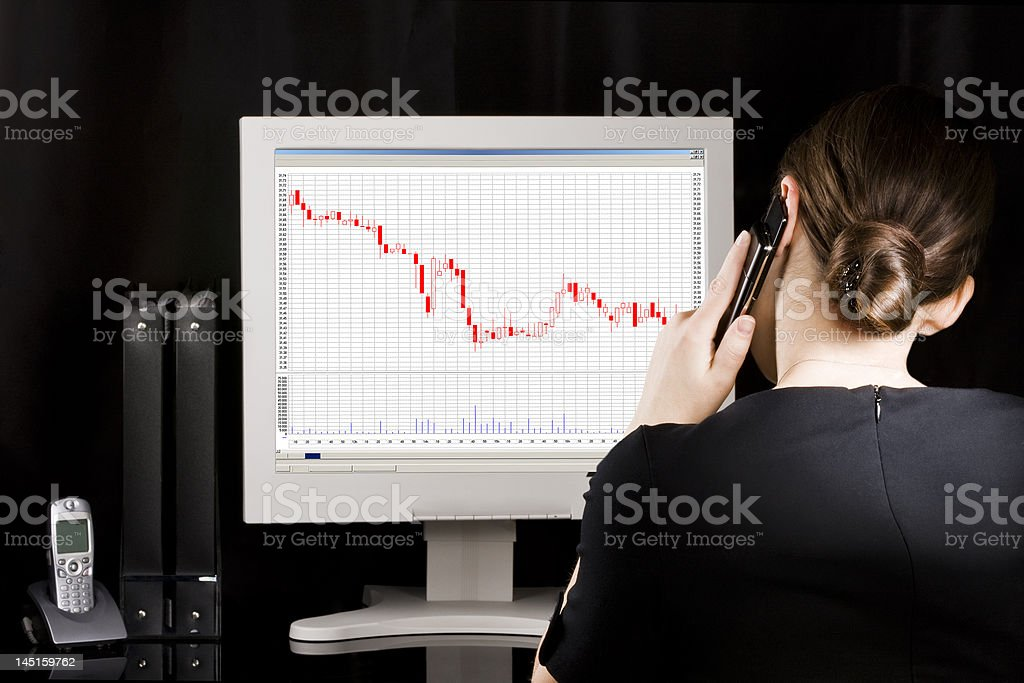 Businesswoman at her workplace royalty-free stock photo