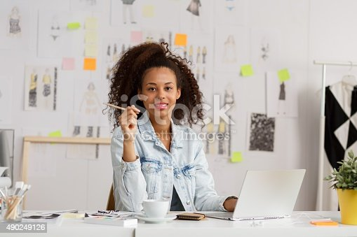 istock Businesswoman at her workplace 490249126
