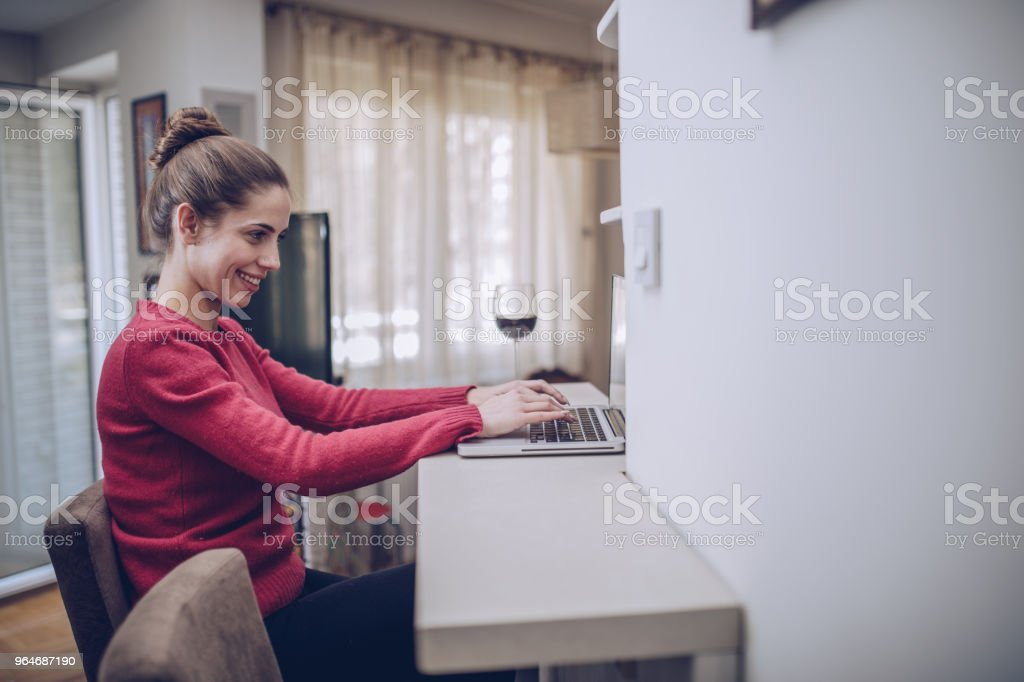 Businesswoman at home royalty-free stock photo
