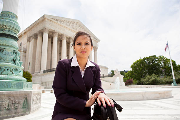 businesswoman at supreme court - politician stock photos and pictures