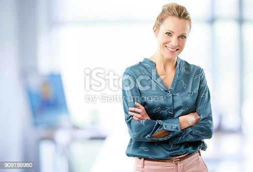 istock Businesswoman at the office 909199980