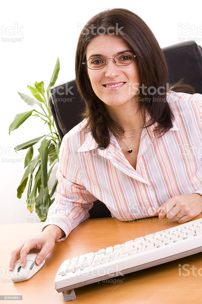 Businesswoman at the office royalty-free stock photo