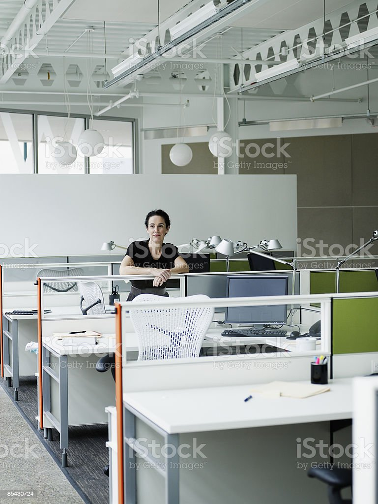 Businesswoman at workstation royalty-free stock photo