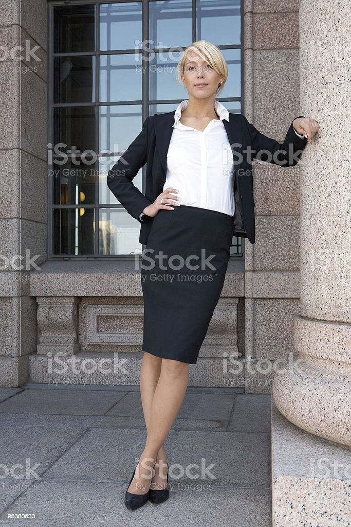 Businesswoman by building royalty-free stock photo