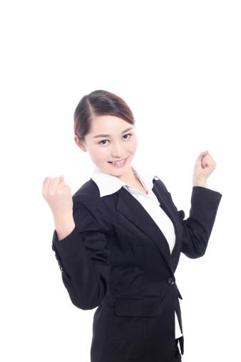 500150419 istock photo Businesswoman cheering 185238878