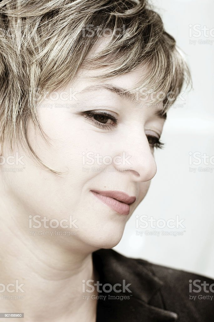 Businesswoman close-up royalty-free stock photo