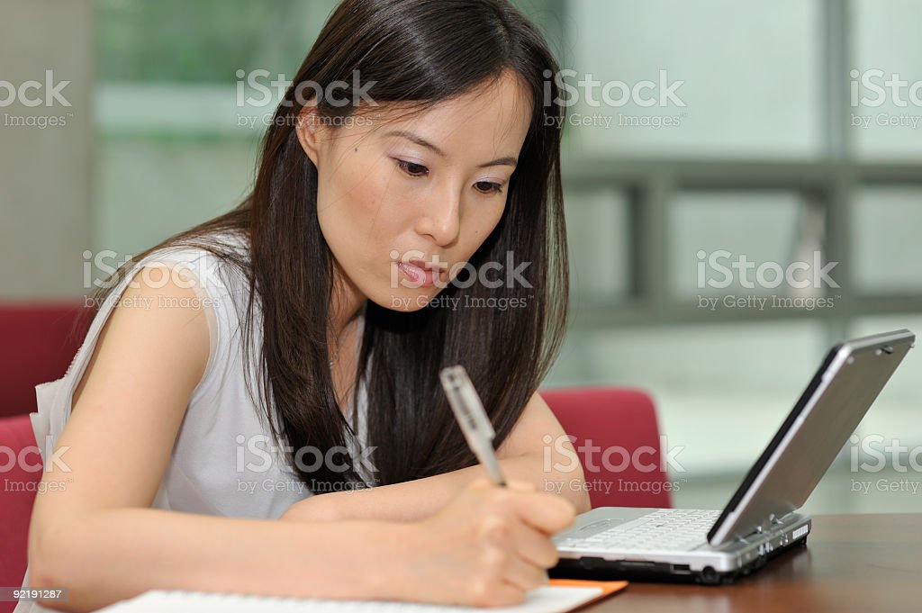 Businesswoman, Copy Space royalty-free stock photo