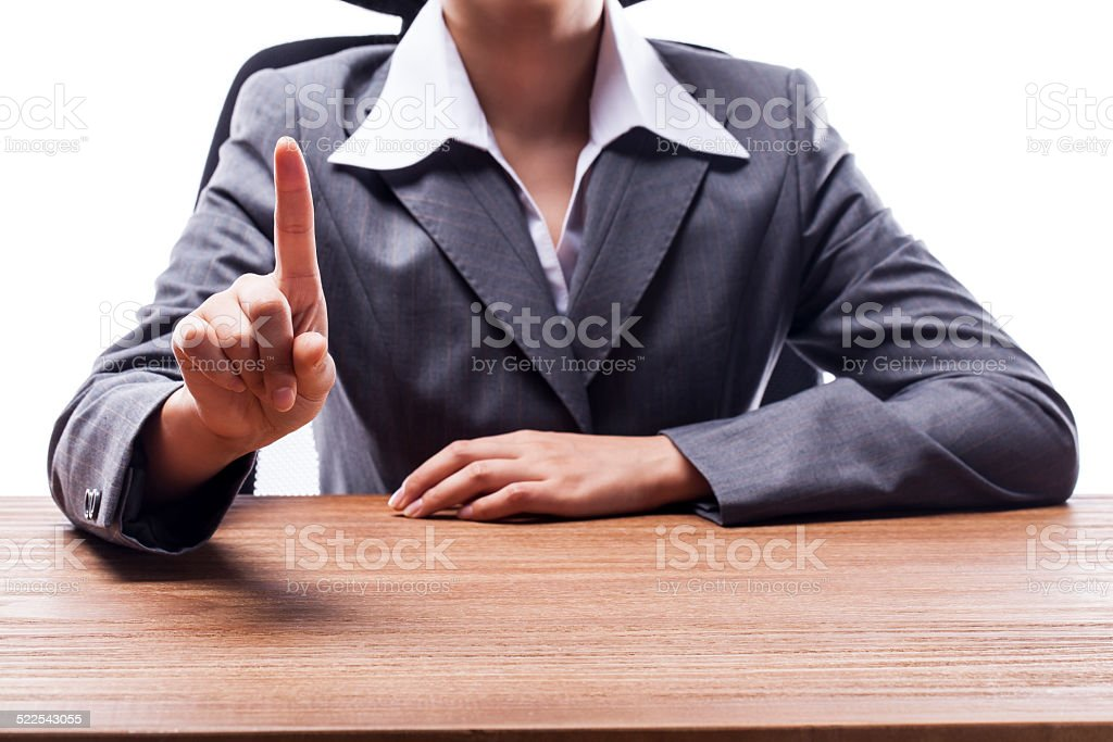 Businesswoman Counting One stock photo