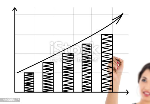 istock businesswoman drawing graph 469958127