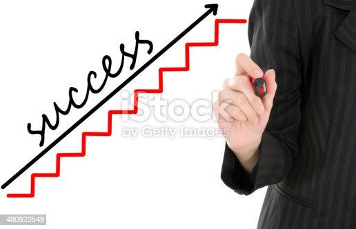 istock businesswoman drawing graph 480920549