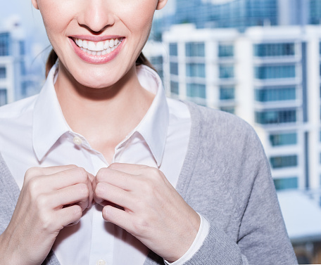 Businesswoman Dressing Up Stock Photo - Download Image Now