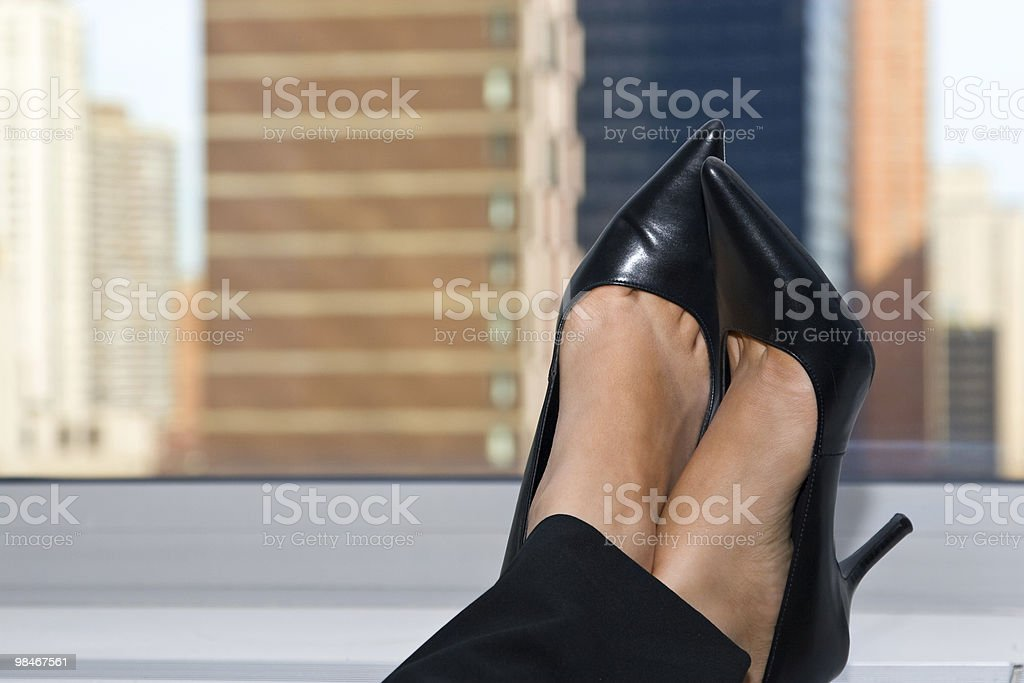 Businesswoman Feet Up royalty-free stock photo