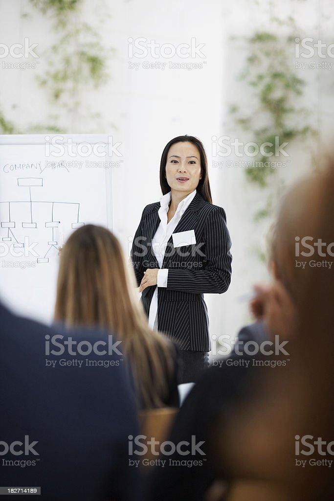 Businesswoman Giving a Presentation royalty-free stock photo
