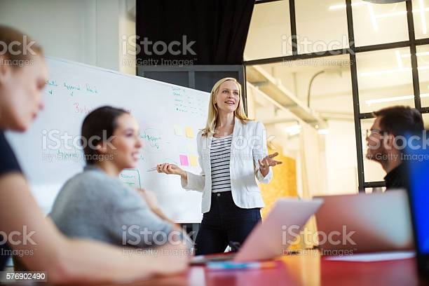 Businesswoman giving presentation on future plans to colleagues picture id576902490?b=1&k=6&m=576902490&s=612x612&h=tqqfa8yxl troud1munklzwl8bxxras4dnxptw0irlo=