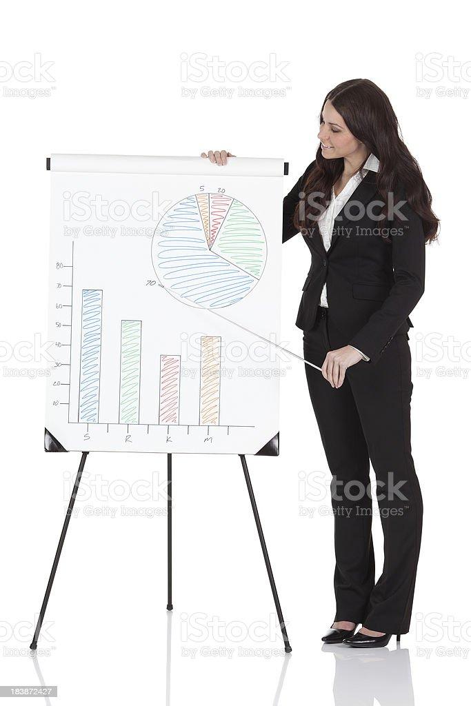 Businesswoman giving presentation royalty-free stock photo