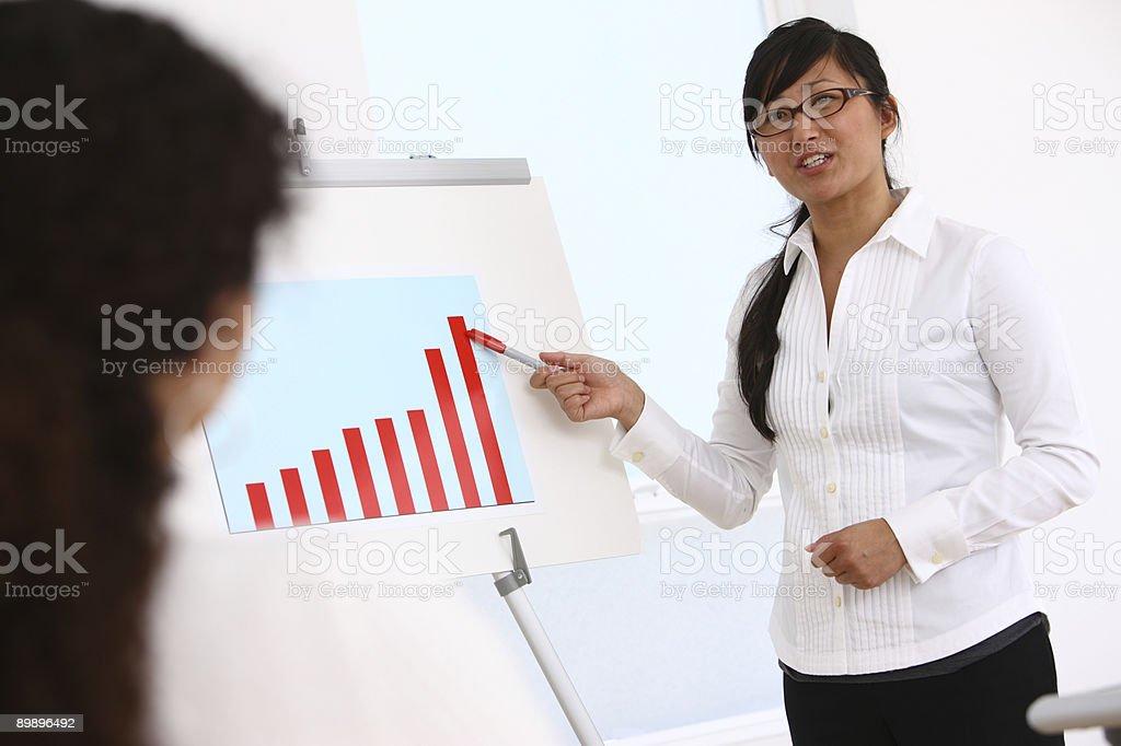 Geschäftsfrau, die Präsentation Lizenzfreies stock-foto