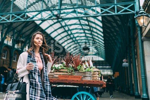 Businesswoman on her way to work