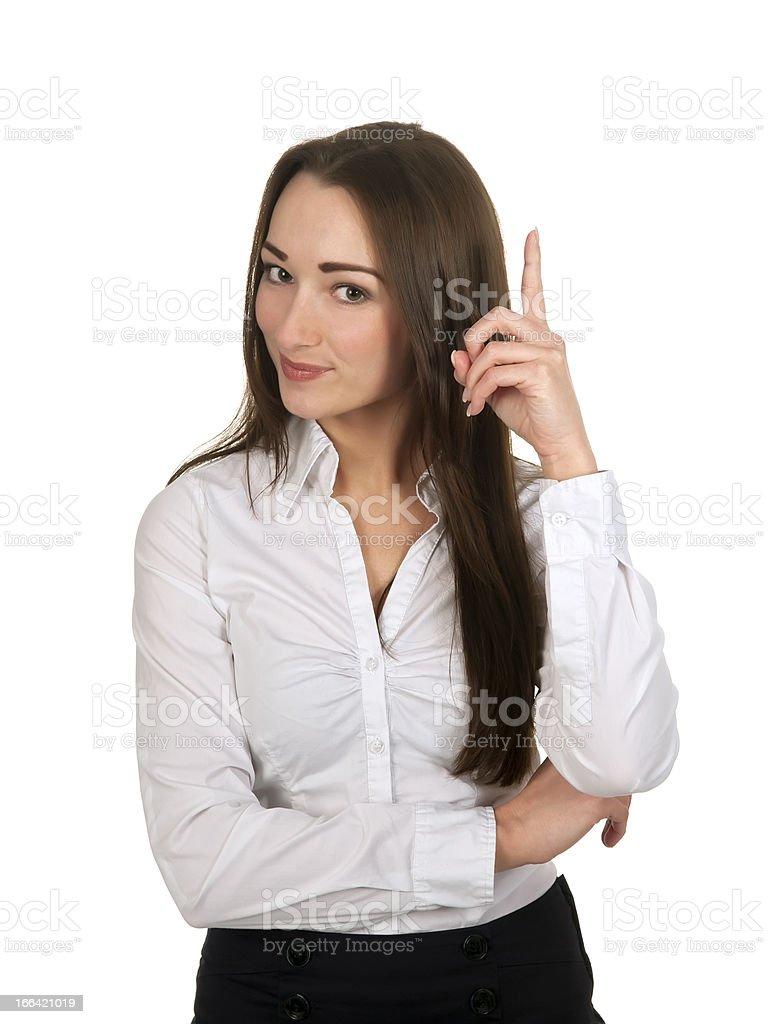 businesswoman got idea stock photo