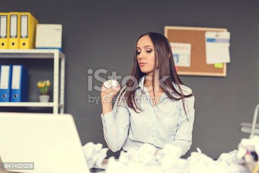 187928332 istock photo Businesswoman had enough 641402028