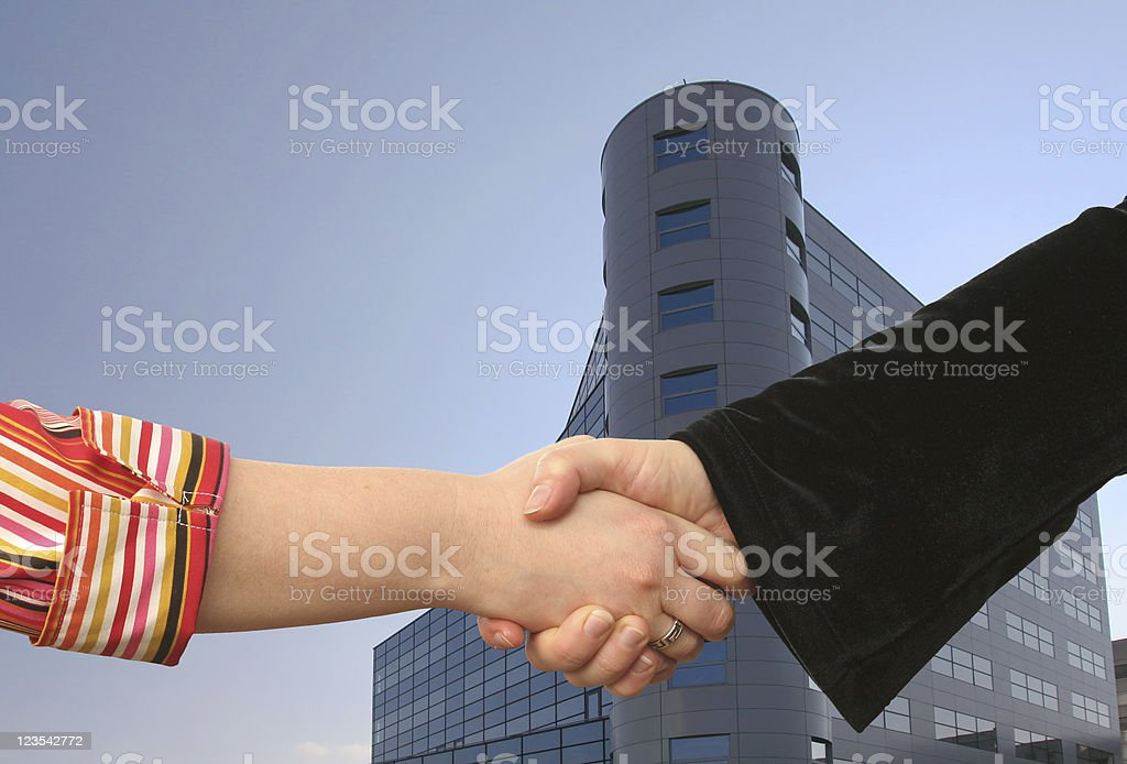 Businesswoman handshake royalty-free stock photo