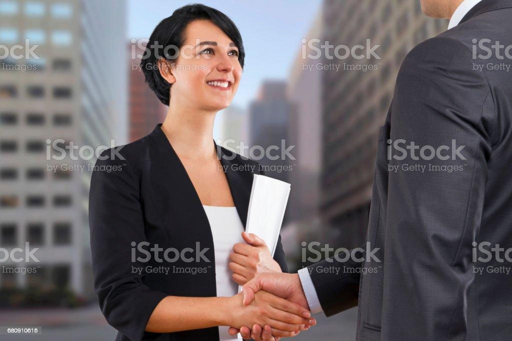 Businesswoman Handshake royalty-free stock photo