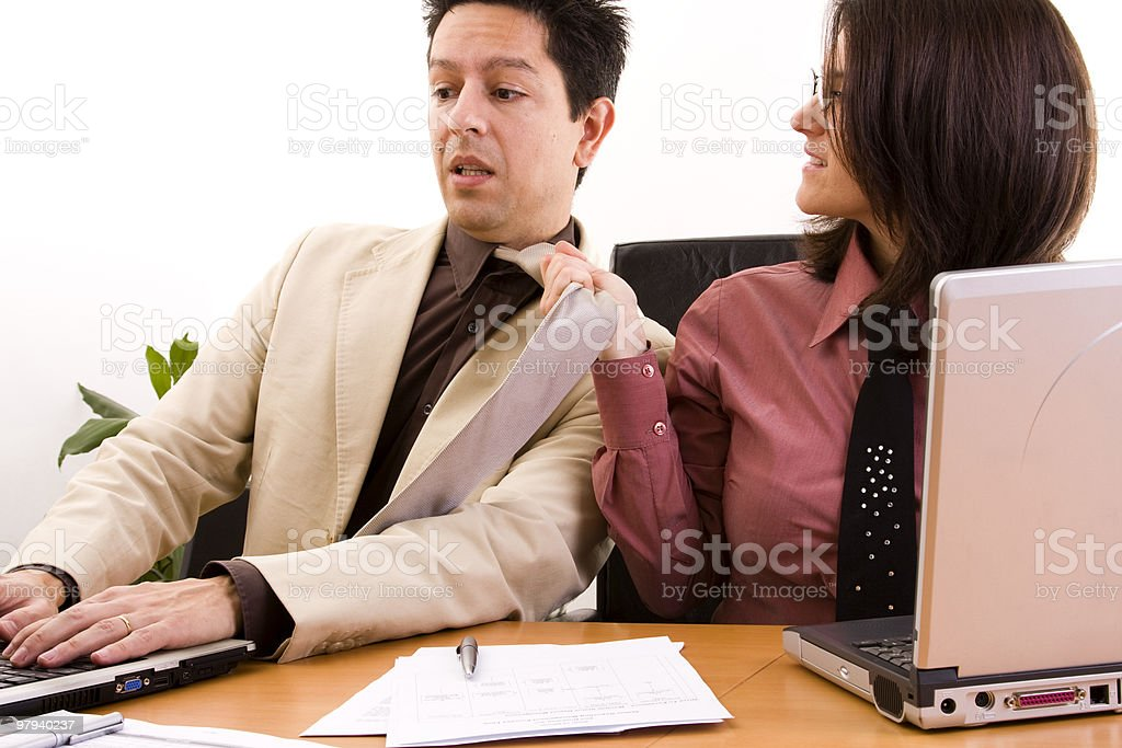 businesswoman harassment royalty-free stock photo