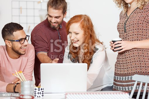 842214626istockphoto Businesswoman have fun while brainstorming 902813356