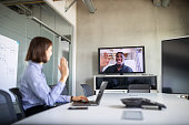 istock Businesswoman having a video call with a colleague 1263125299