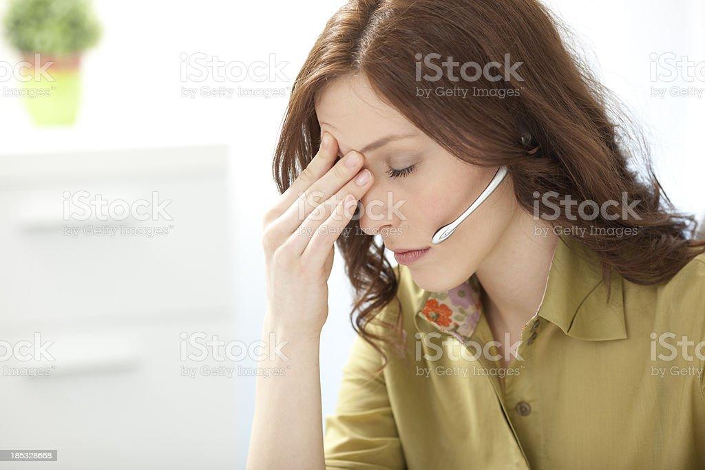 Businesswoman Having Headache royalty-free stock photo