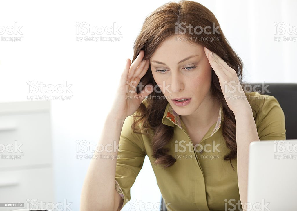Businesswoman Having Headache royalty-free stock photo