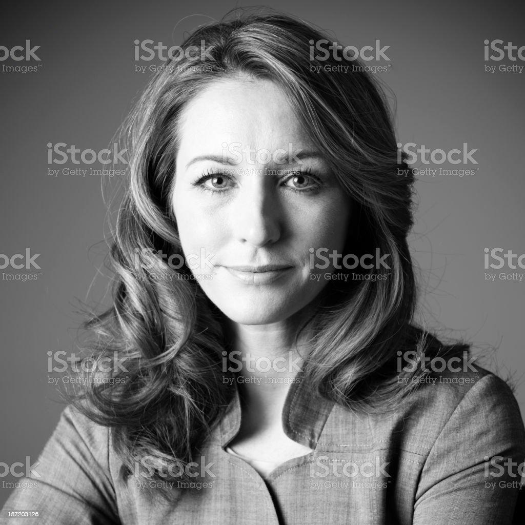 Businesswoman headshot portrait stock photo