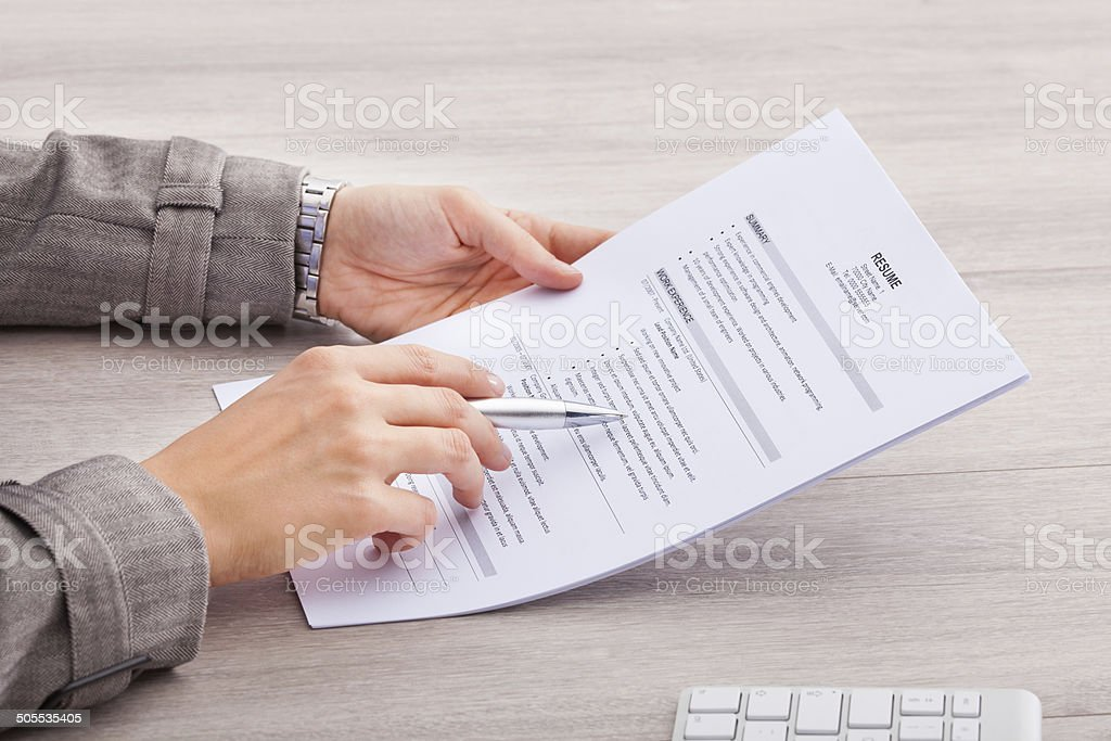 Businesswoman Holding Contract Paper stock photo