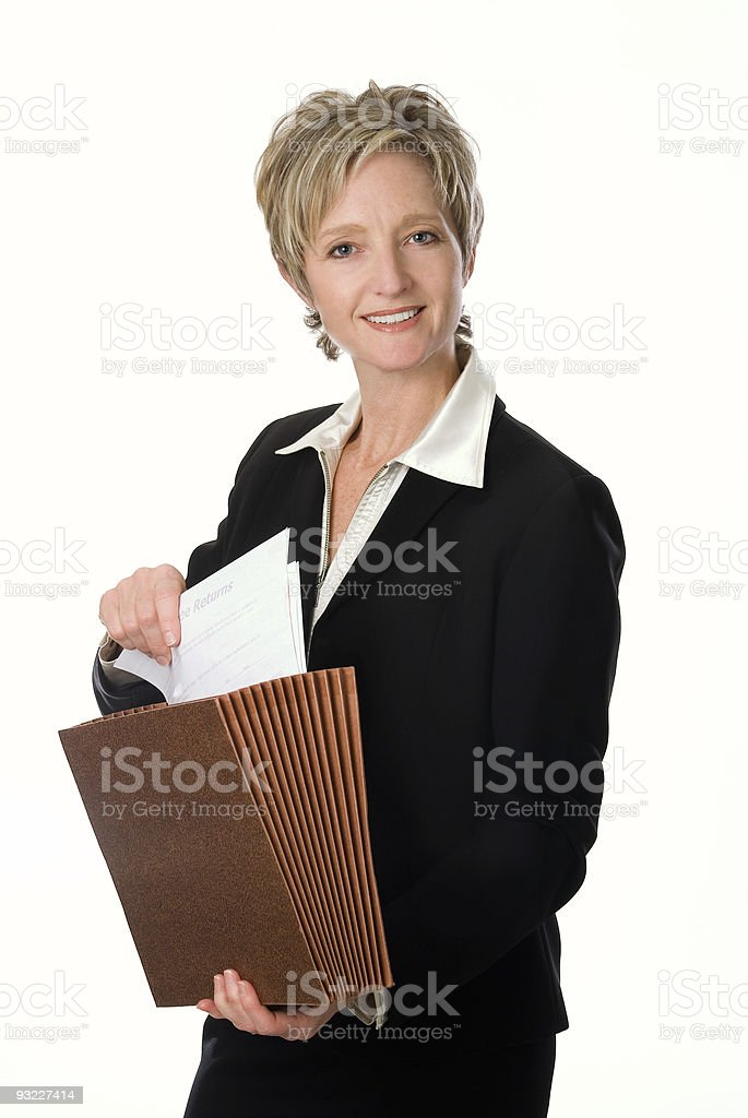 Businesswoman Holding Files royalty-free stock photo