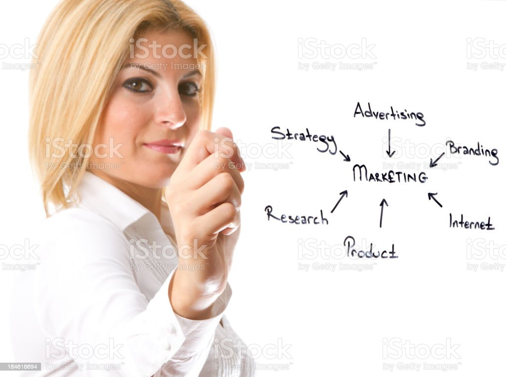 Businesswoman holding transparency sheet royalty-free stock photo