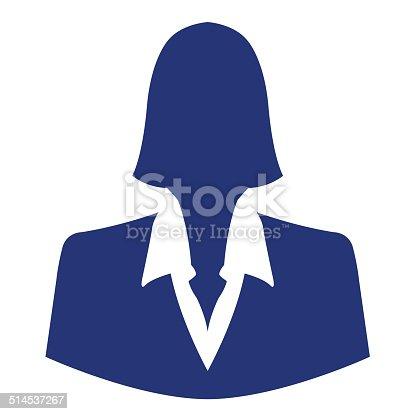 istock Businesswoman icon as avatar profile picture 514537267