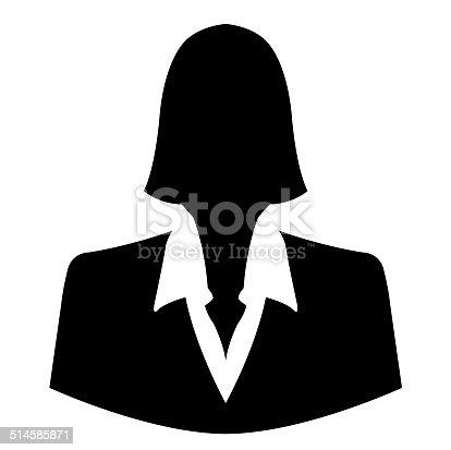 istock Businesswoman icon as avatar profile picture 514585871