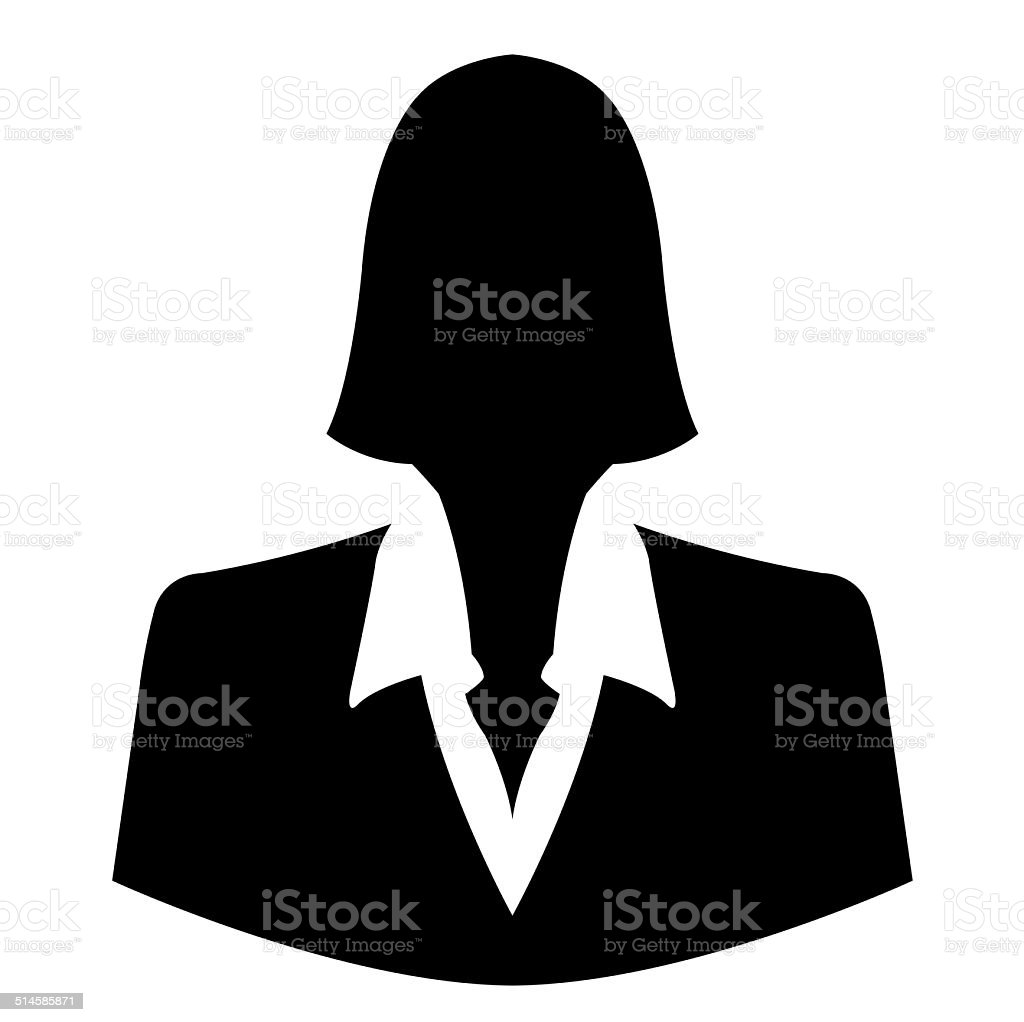 Businesswoman icon as avatar profile picture stock photo