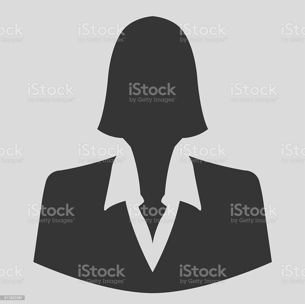 Businesswoman icon as avatar profile picture stock photo