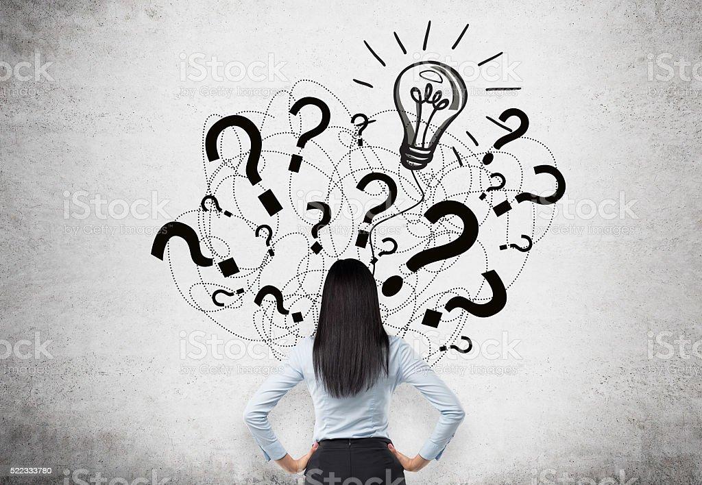 Businesswoman idea stock photo