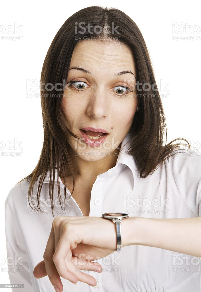 Businesswoman in a hurry royalty-free stock photo