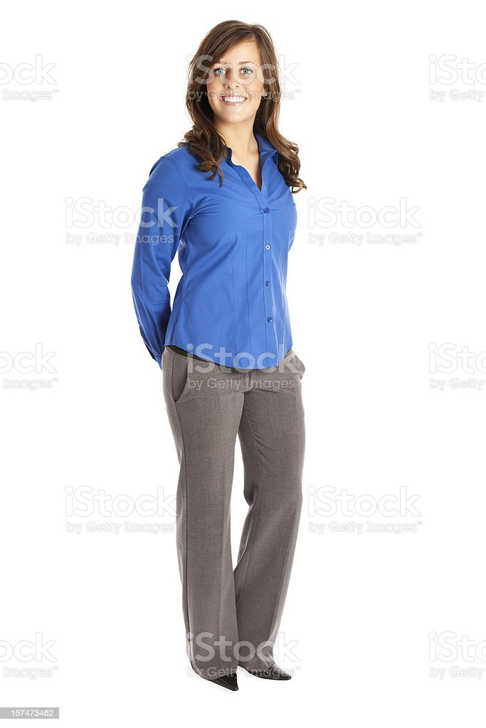 Businesswoman in Blue stock photo