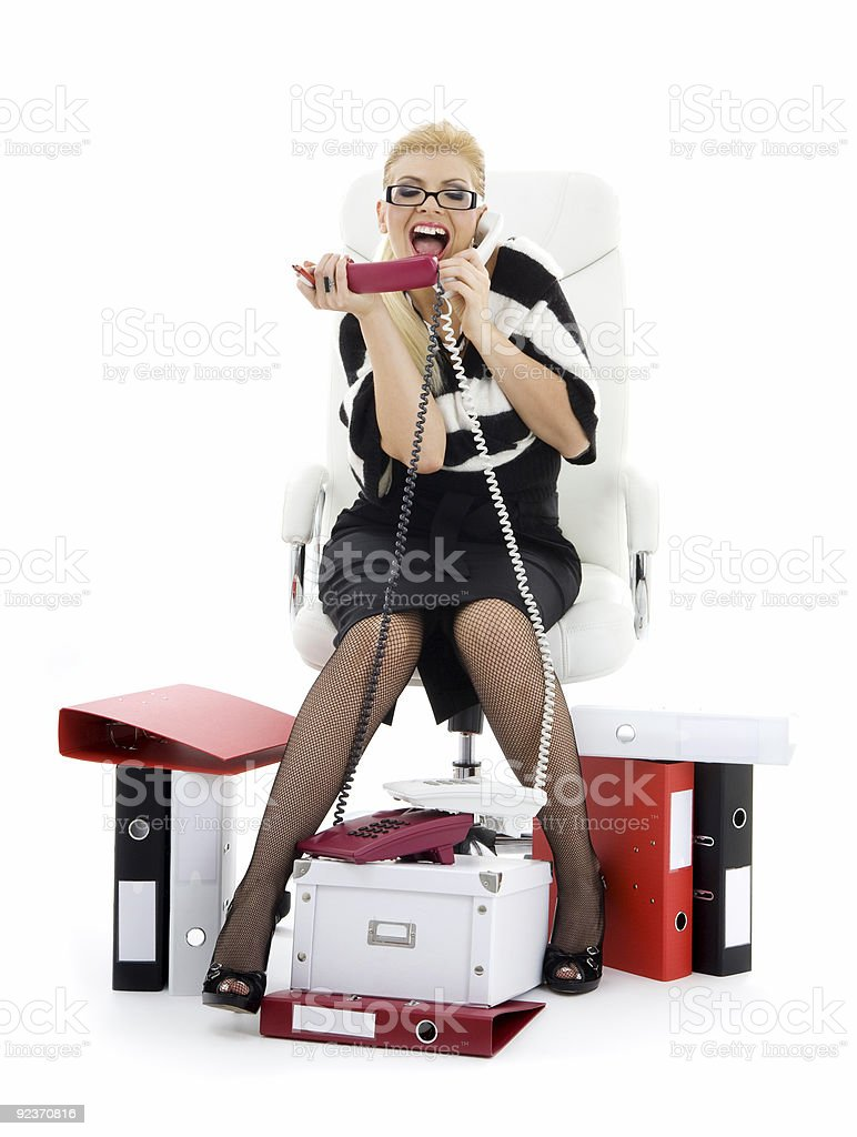 businesswoman in chair royalty-free stock photo