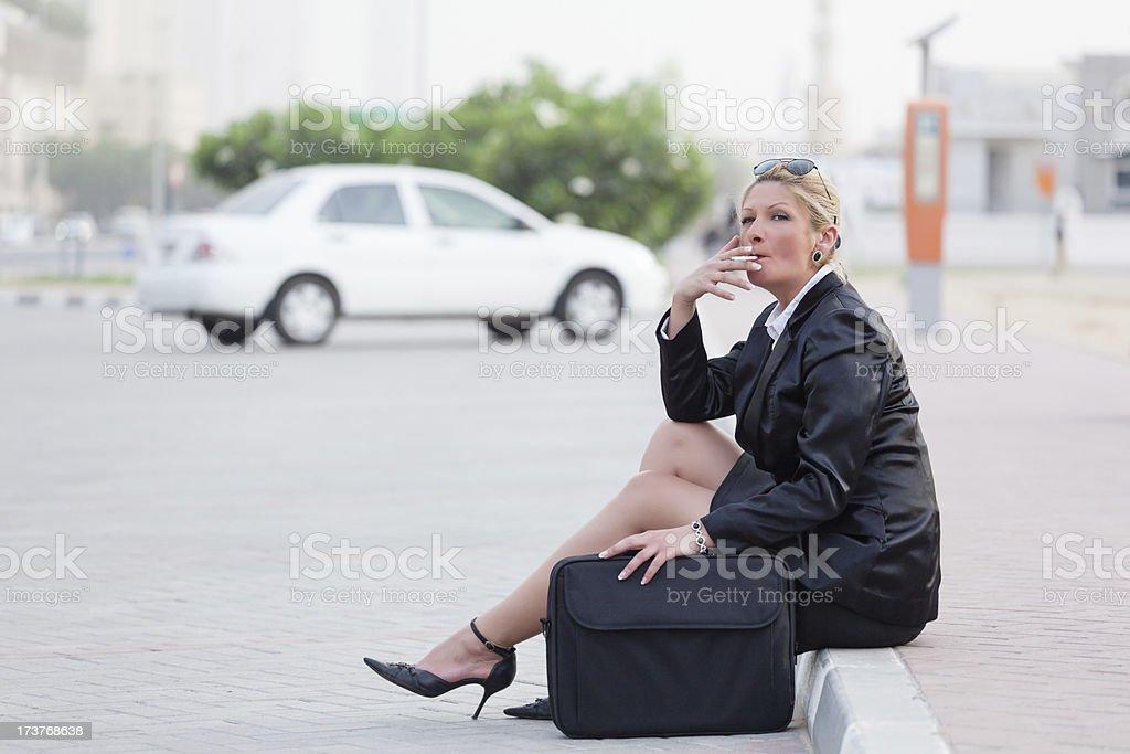 Businesswoman in Dubai stock photo