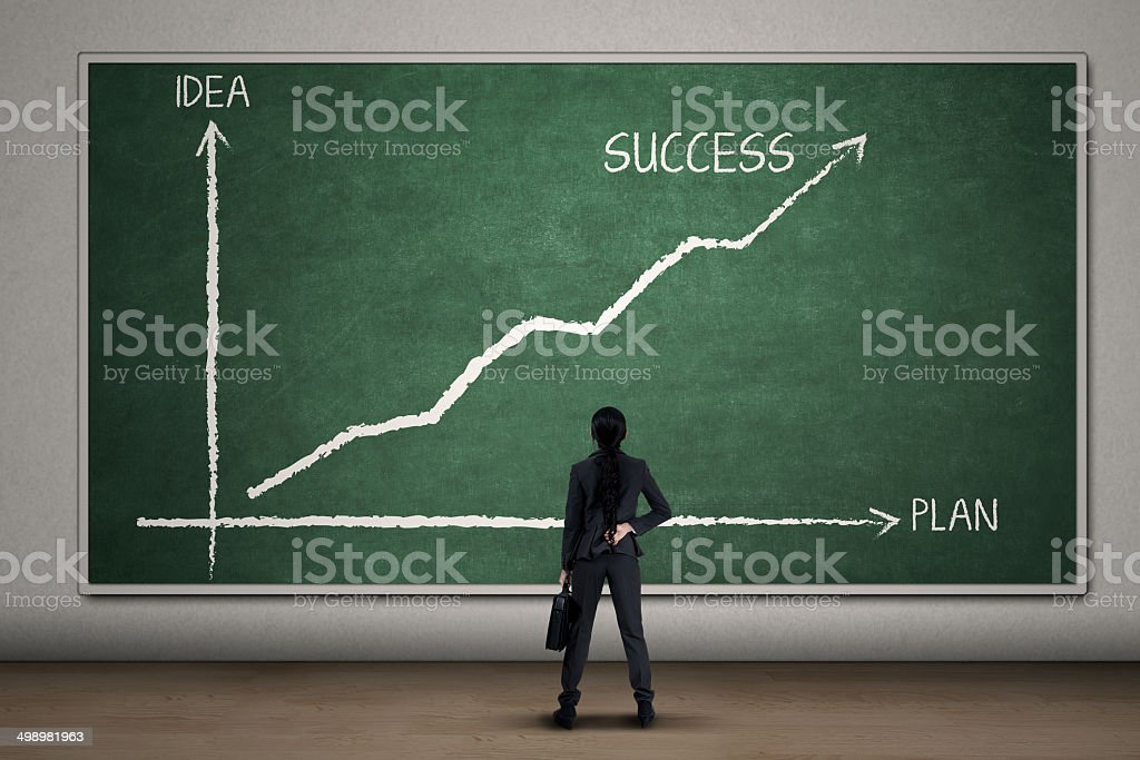 Empresaria Frente De Diagrama Grande - Fotografía de stock y más ...