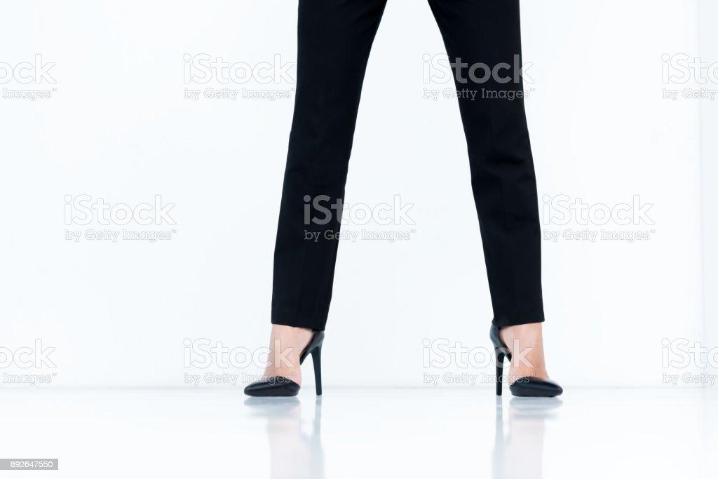 businesswoman in high heels stock photo