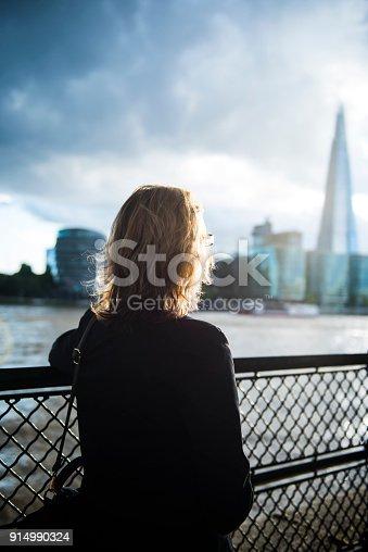 istock Businesswoman in London 914990324