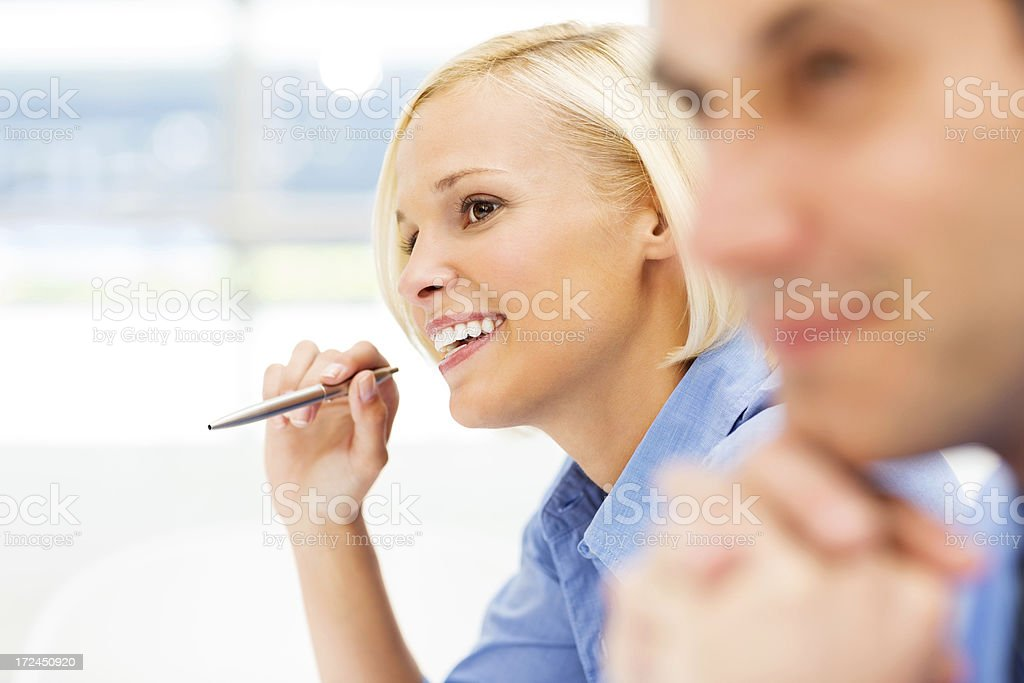 Businesswoman In Meeting With Colleague royalty-free stock photo
